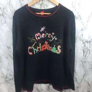 Women's Ugly Christmas Sweater Sweatshirt 2XL